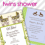 Twin Baby Shower Invitations