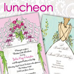Bridal Shower Luncheon Invitations